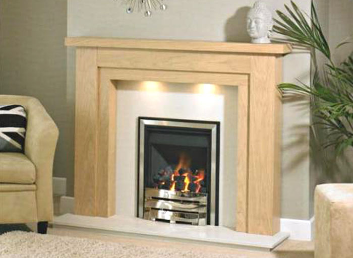 Benidorm timber fireplace surround